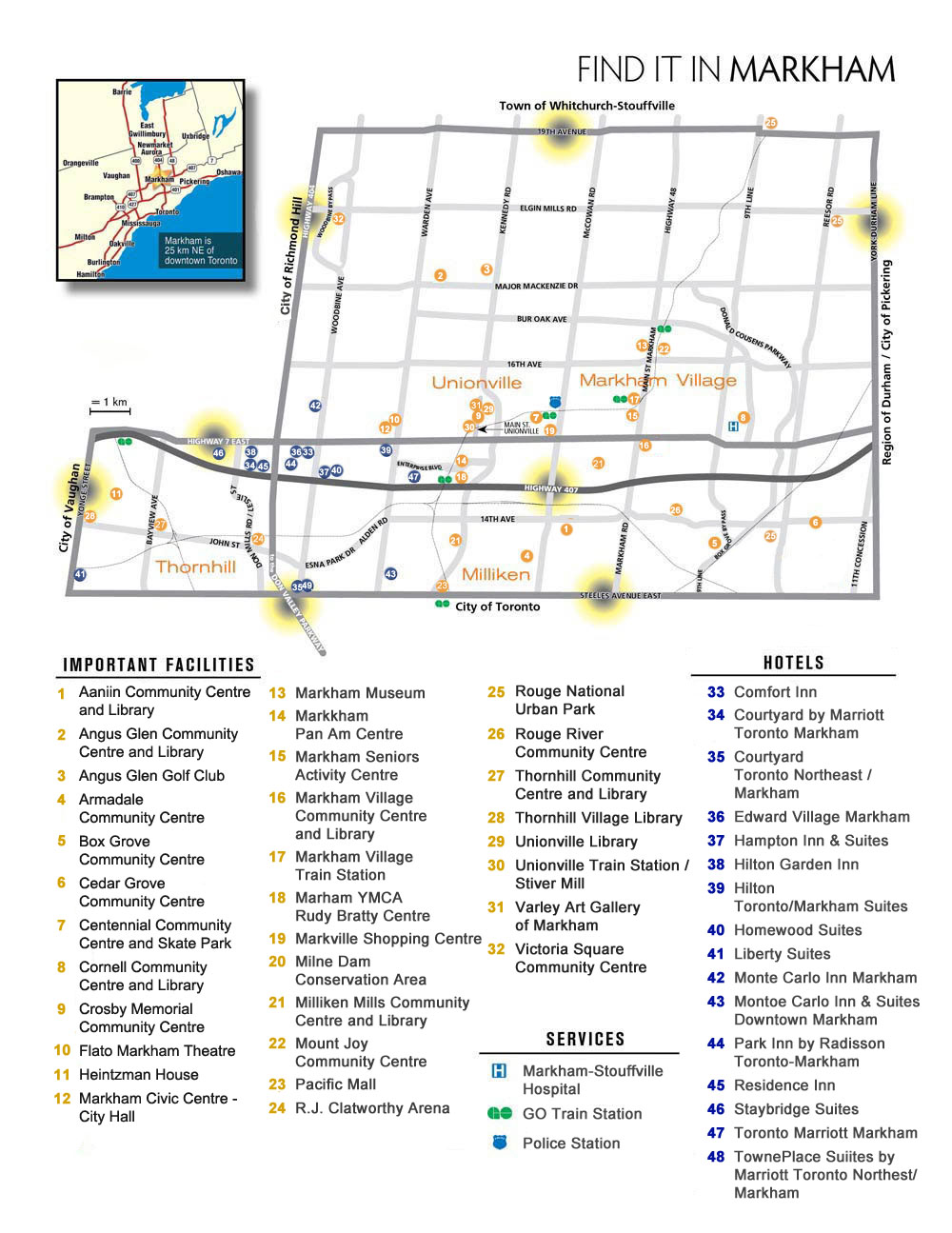City of Markham Map